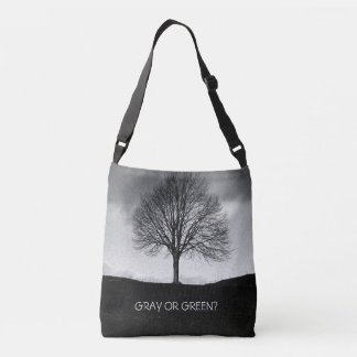 Nature in black and white crossbody bag