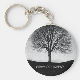 Nature in black and white key ring
