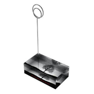 Nature in black and white table number holder