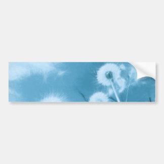 Nature in Blue - dandelion flowers Bumper Stickers
