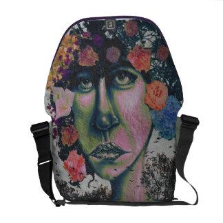 Nature in Glitter Lipstick Rickshaw Messenger Bag