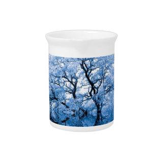 Nature Inspiration Trees Blue Artistically Art Pitcher
