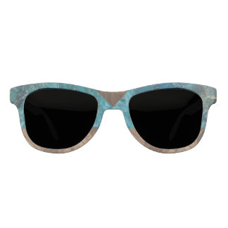 Nature Inspired Blue Stone and Wood Sunglasses