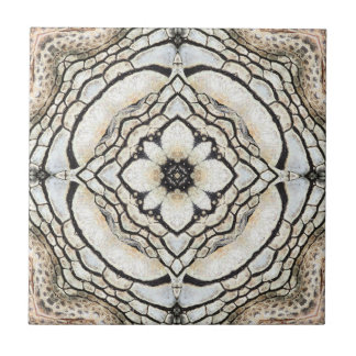 Nature Inspired Geometric Abstract Ceramic Tile