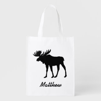 Nature Inspired Moose Reusable Grocery Bag