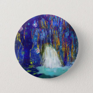 Nature is a fairy tale 6 cm round badge