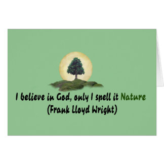 Nature Is My God Card