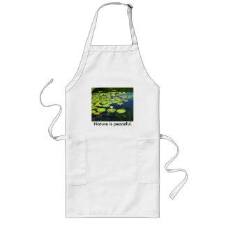 Nature is peaceful apron. long apron