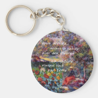 Nature is powerful in art creation key ring