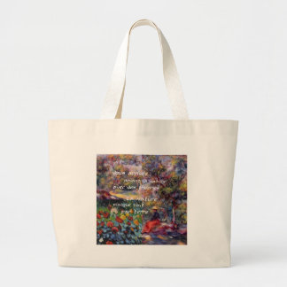 Nature is powerful in art creation large tote bag