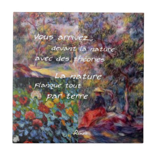 Nature is powerful in art creation tile