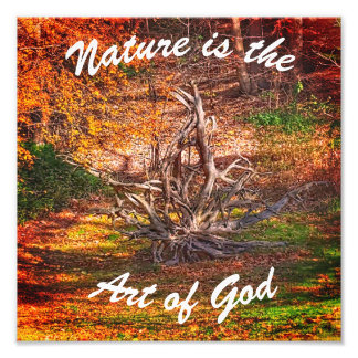 """""""Nature is the Art of God"""" Quote Print"""