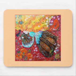 Nature Lady and the Seasons of the Year Mouse Pad