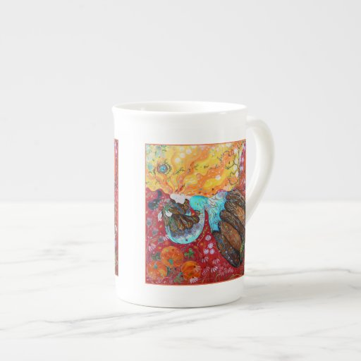 Nature Lady and the Seasons of the Year Porcelain Mugs