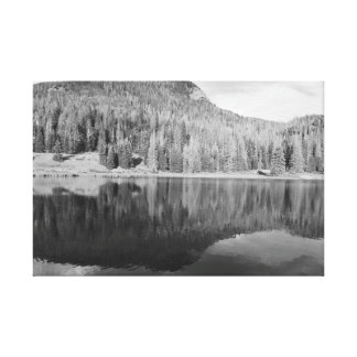 Nature Landscape photo art black & white Stretched Canvas Print