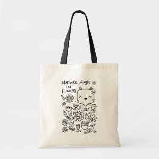 Nature Laughs in Flowers, Color Me tote