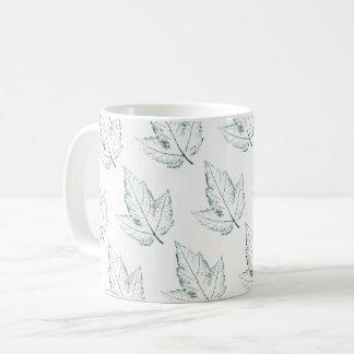 Nature Leaf Print little, green spring maple leaf. Coffee Mug