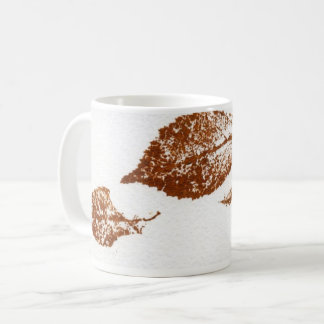 Nature Leaf Print three brown winter leaves Coffee Mug