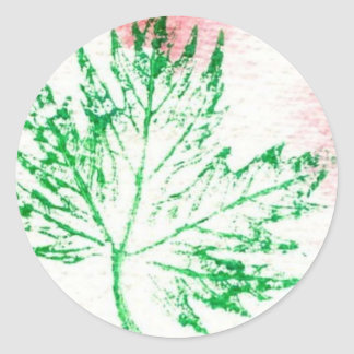 Nature leaf Prints Sticker