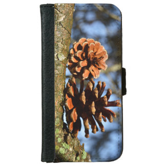 Nature Lover Pine Cones On Branch iPhone 6 Wallet Case