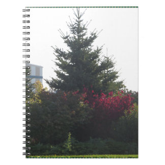 Nature lovers gifts Tree Flowers Template add TEXT Spiral Note Book