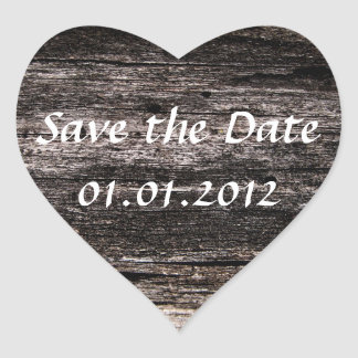 nature lover's save the date heart sticker