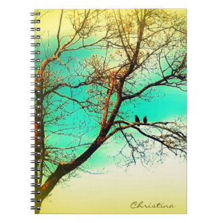 Nature Lovers: Two Crows in a Tree Writing Notebook