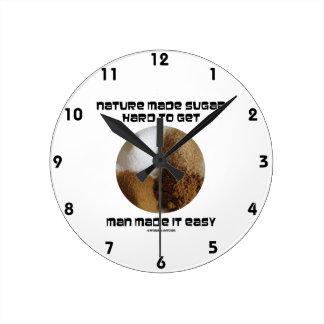 Nature Made Sugar Hard To Get Man Made It Easy Wall Clocks