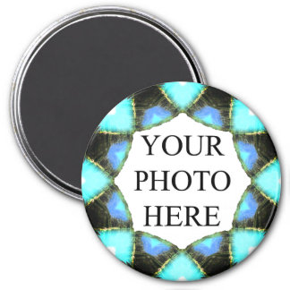 "Nature Mandala Ring | ""Your Photo Here"" Template 7.5 Cm Round Magnet"