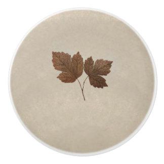 Nature Minimalist Fall Leaves Elegant Chic Decor Ceramic Knob