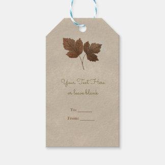 Nature Minimalist Fall Leaves Elegant Favor Gift Tags