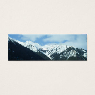 Nature Mountains Bookmark Mini Business Card