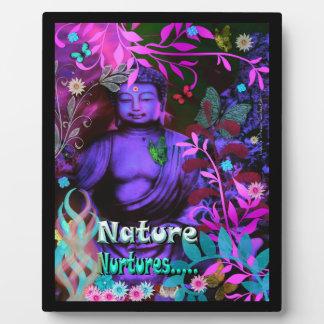 Nature Nurtures Buddha Picture Plaque