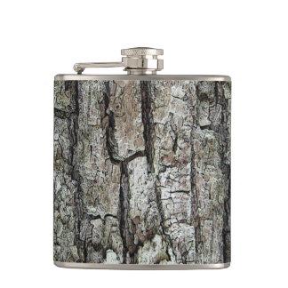 Nature Old Pine Bark Hip Flask