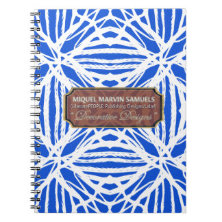 Nature Pattern Blue White Modern Notebook