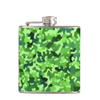 Nature Pattern - Green Blue Black Hip Flask