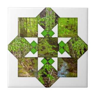 Nature Pattern Small Square Tile