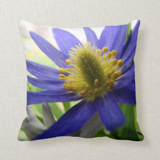 Nature Photo Blue and Yellow Wildflower Throw Pillow