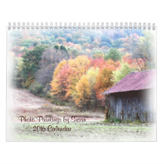 Nature Photo Paintings By Susan 2016 Calendar