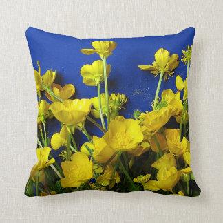 Nature photographs; buttercups cushion