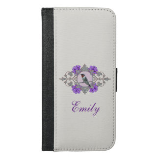 Nature Photography, Hummingbird Sitting on a Wire iPhone 6/6s Plus Wallet Case