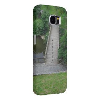 Nature Photography Park Bridge Trees Green Samsung Galaxy S6 Cases