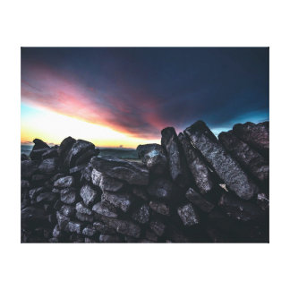 Nature photography    Stone wall Canvas Print