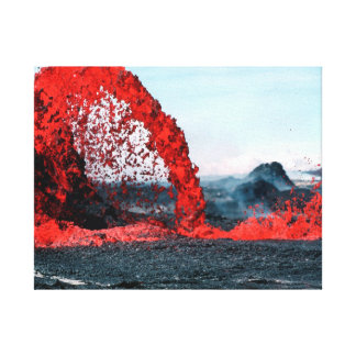 Nature photography |  volcano | magma canvas print