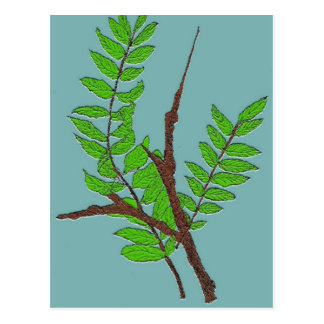 Nature Postcard with Leaves and Twigs Art