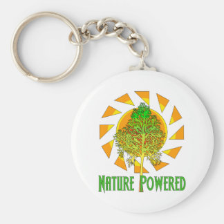 Nature Powered Basic Round Button Key Ring