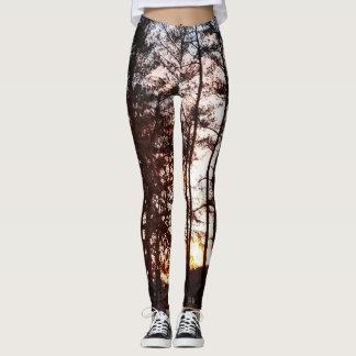 Nature Print Leggings