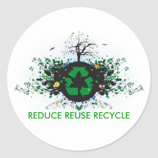 Nature Recycles Round Sticker