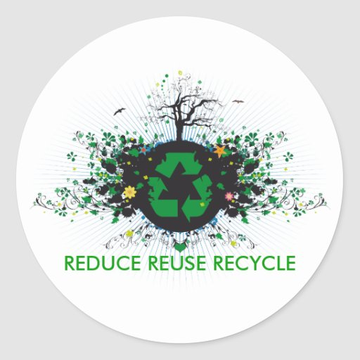 Nature Recycles Stickers