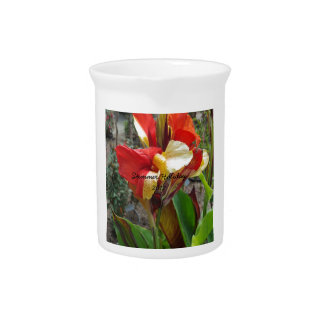 Nature Red Flower Floral Photography Pitcher